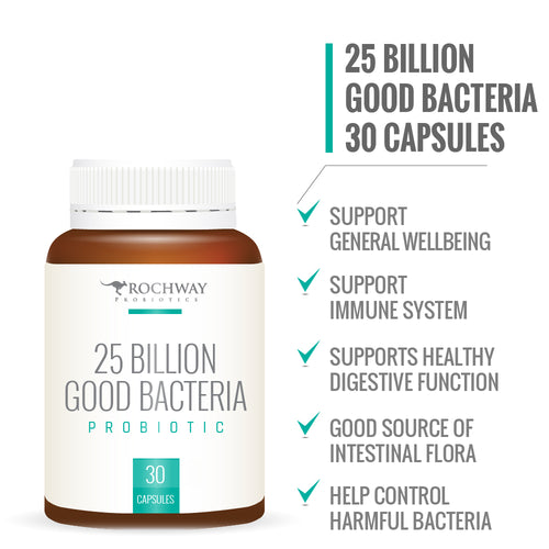 Rochway 25 Billion Good Bacteria- 30 capsules