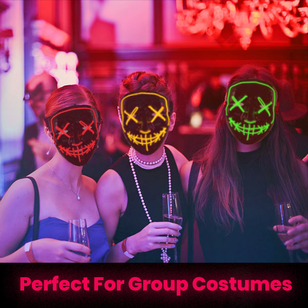 Halloween Perfect Group Costume LED Mask