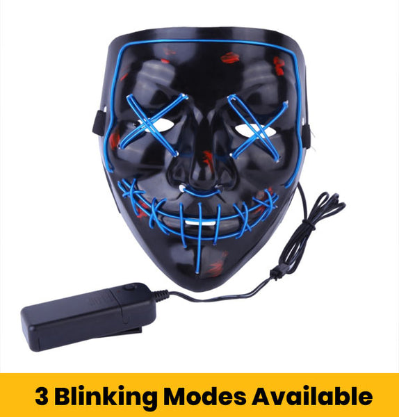 Halloween LED Mask with 3 Blinking Modes Available