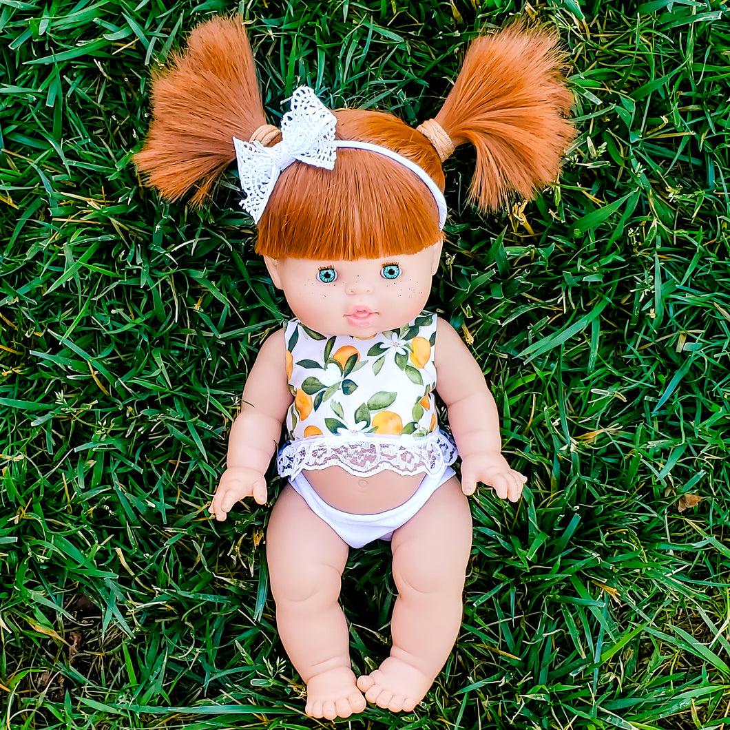 Minikane Gabrielle DOLL - Red Hair, Green Eyes, Freckles
