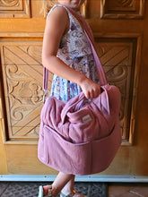 Load image into Gallery viewer, Double Gauze Duffle - Pink Orchid - Minikane