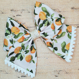 Orange Blossom Bria Bow (RTS)
