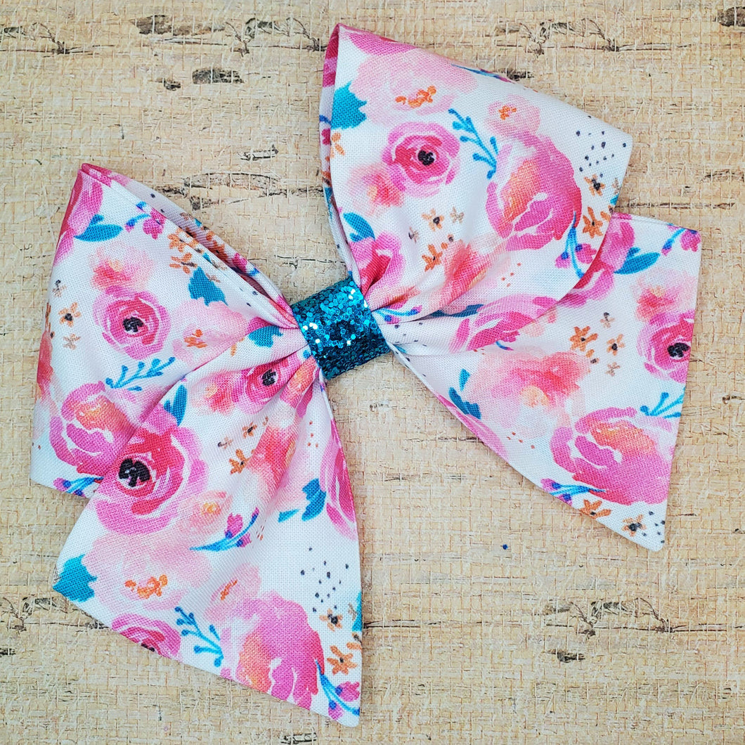 Punchy Floral Bria Bow