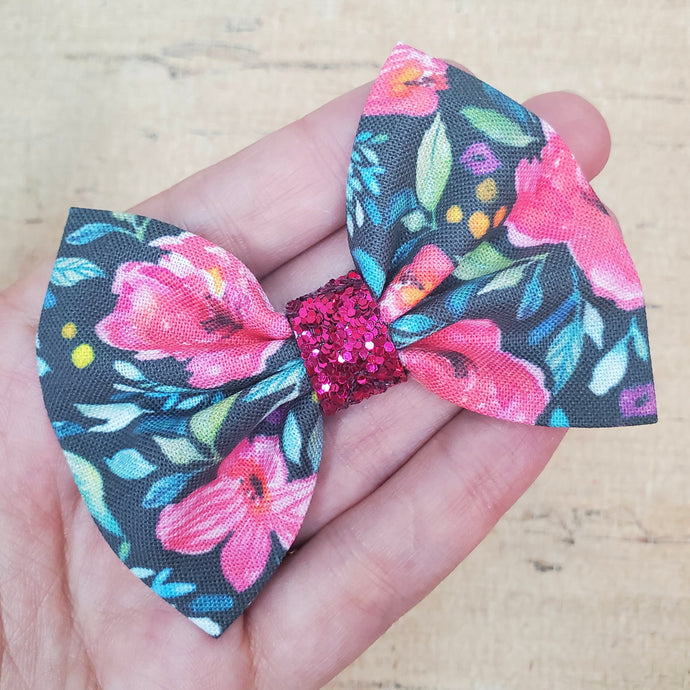 Tropical Floral Mini Everly Teeny Bow