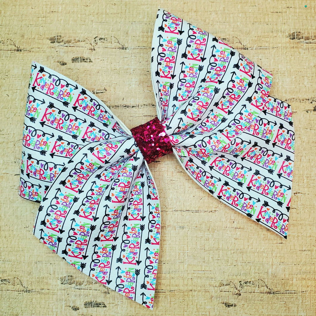 Arrow - Back to School Leatherette Bow (RTS)