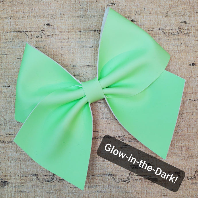 Glow-in-the-Dark Leatherette Bow