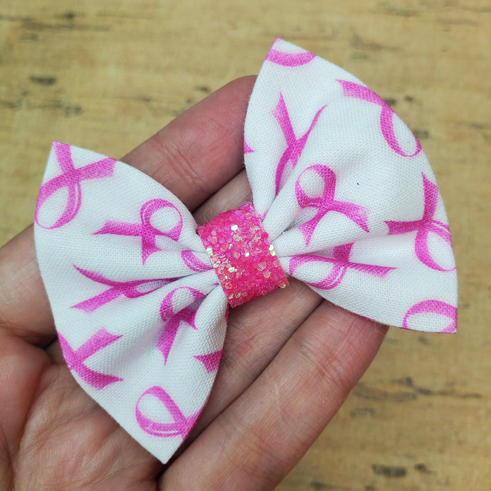 Pink Ribbon Mini Everly Teeny Bow
