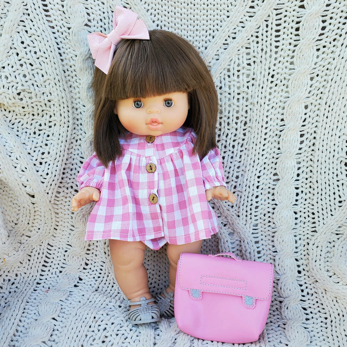 Pink School Girl Set with Backpack