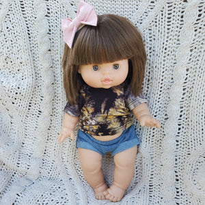 Tie Dye T-Shirt and Emma Denim Shortie Set