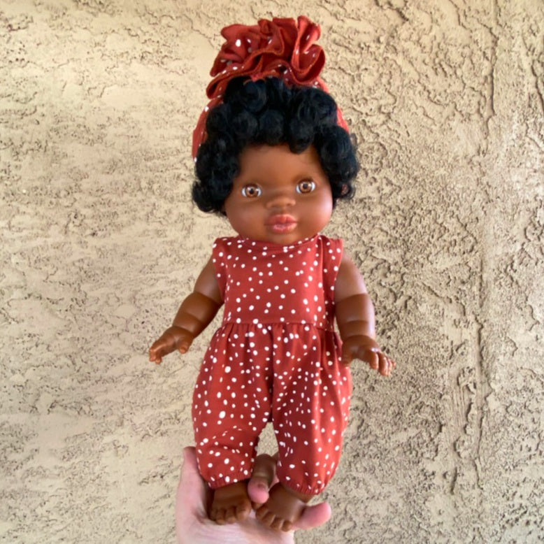 Minikane Jahia DOLL - Brown Eyes - Black Curly Hair