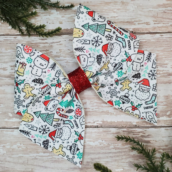 Christmas Faves Leatherette Bow