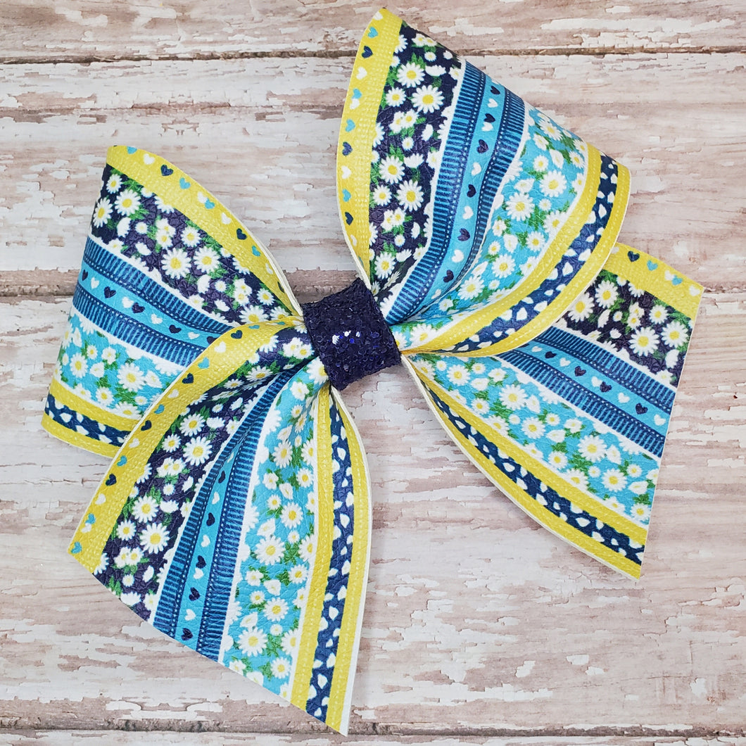Blue Jean Baby Leatherette Bow