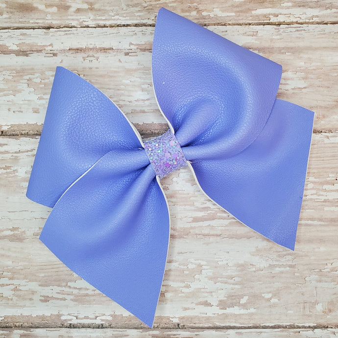 Periwinkle Leatherette Bow