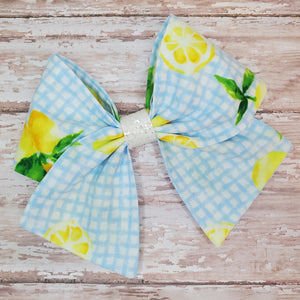 Lemon Gingham Bria Bow (RTS)