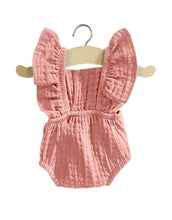 Load image into Gallery viewer, Pink Double Gauze LOU Ruffle Romper