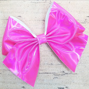 Barbie Pink Holographic Bria Bow