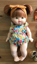 Load image into Gallery viewer, Liberty Poppy & Daisy Saffron LOU Ruffle Romper & Headband Set
