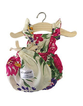 Load image into Gallery viewer, Raspberry Floral LOU Ruffle Romper - DOLL