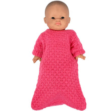 Load image into Gallery viewer, Fuchsia Knitted Wool Sleeping Bag