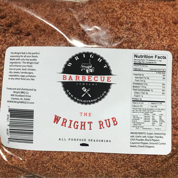 2 lb Bag Bulk Wright Rub All Purpose Seasoning - Wright BBQ Company