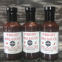 Peach Chipotle BBQ Sauce 3 Pack - Wright BBQ Company