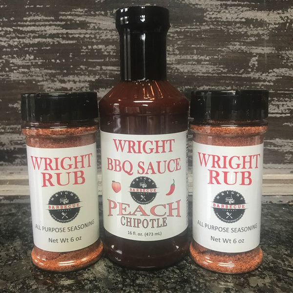 Two 6oz Wright Rub & BBQ Sauce