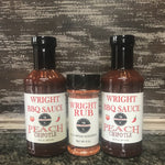 Two BBQ Sauce And 5.5oz Rub - Wright BBQ Company