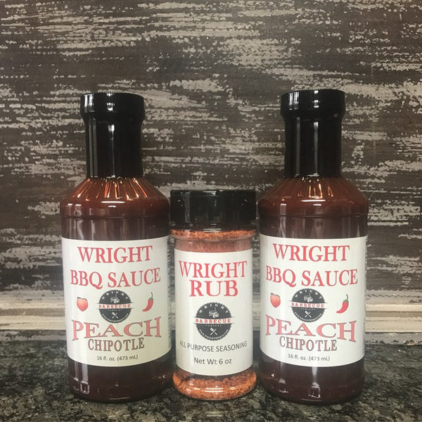 Two BBQ Sauce And 6oz Rub - Wright BBQ Company