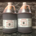 Two Gallons Peach Chipotle BBQ Sauce - Wright BBQ Company