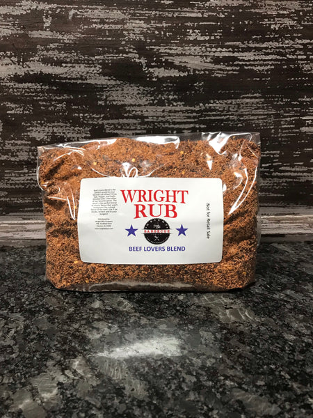 2LB Bag Beef Lovers Blend - Wright BBQ Company