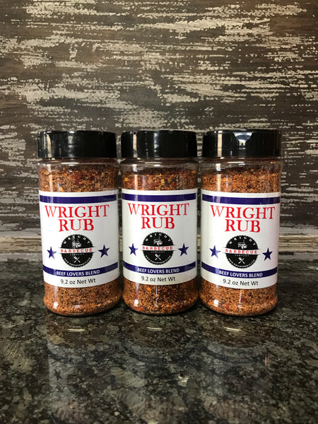 Three Pack 9.2oz Beef Lovers - Wright BBQ Company
