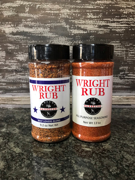 9.2oz Beef Lovers Blend and 13oz All Purpose - Wright BBQ Company