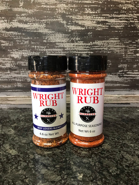 4.6oz Beef Lovers Blend and 5.5oz All Purpose - Wright BBQ Company