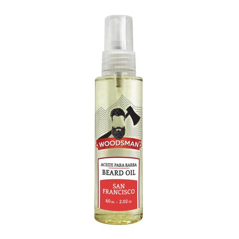 "ACEITE PARA BARBA Y BIGOTE ""San Francisco"" de 60 mL."