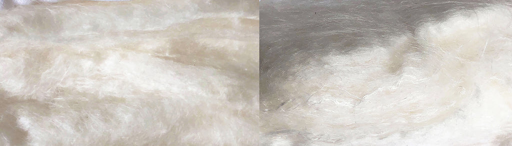 mulberry silk processed by hand vs. Industrially processed mulberry silk by machinery