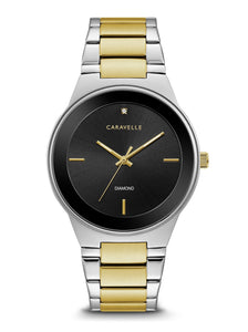 Caravelle Men's Diamond Stainless Steel Watch