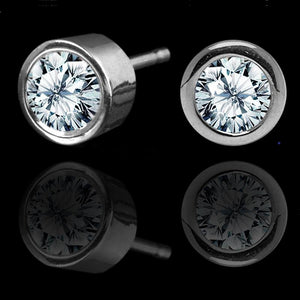 Antwerp Diamonds Royal Bezel-Set Stud Earrings .10tcw-White Gold