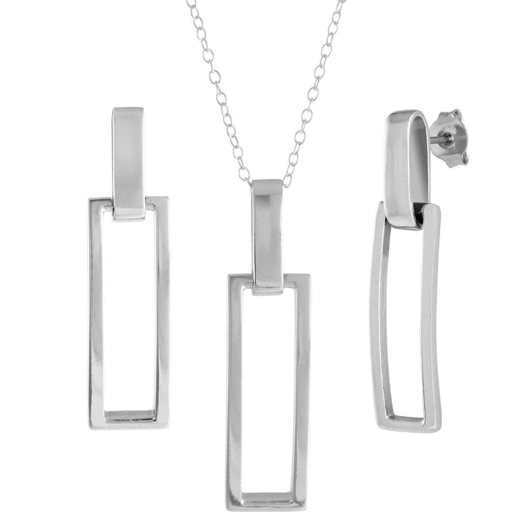 Jilco Inc Contemporary Earring & Necklace Set