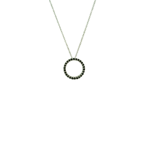Antwerp Diamonds Circle Of Life Black Diamond Pendant - White Gold