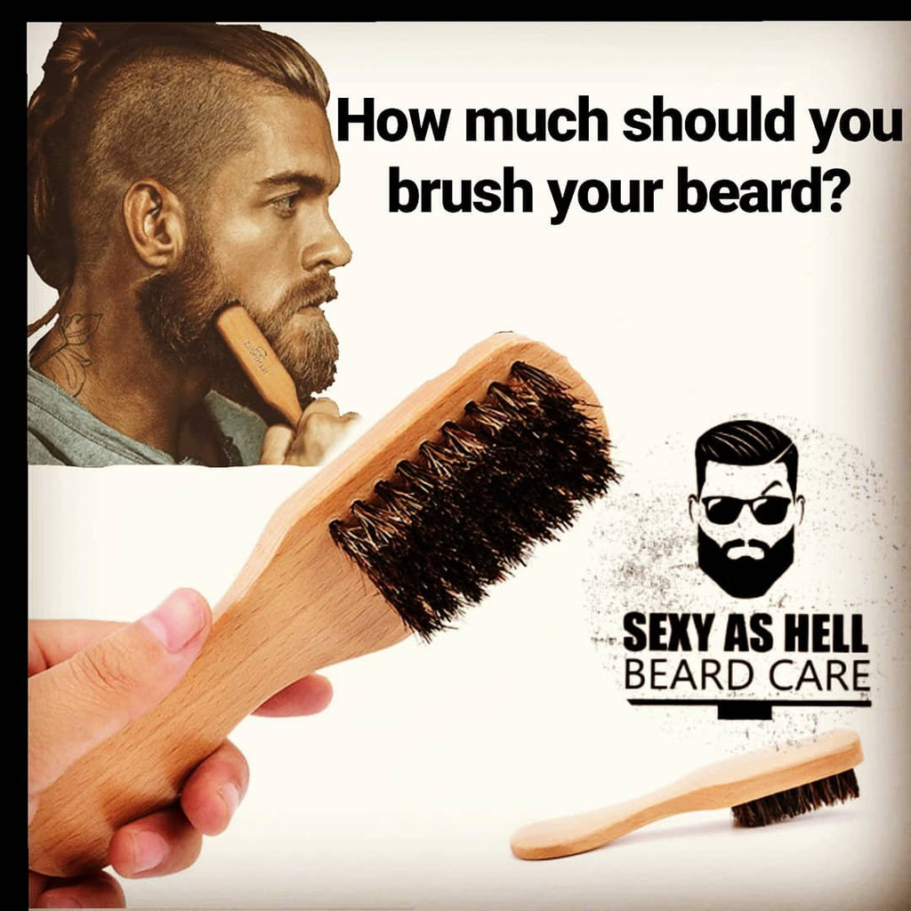 How much should you brush your beard?