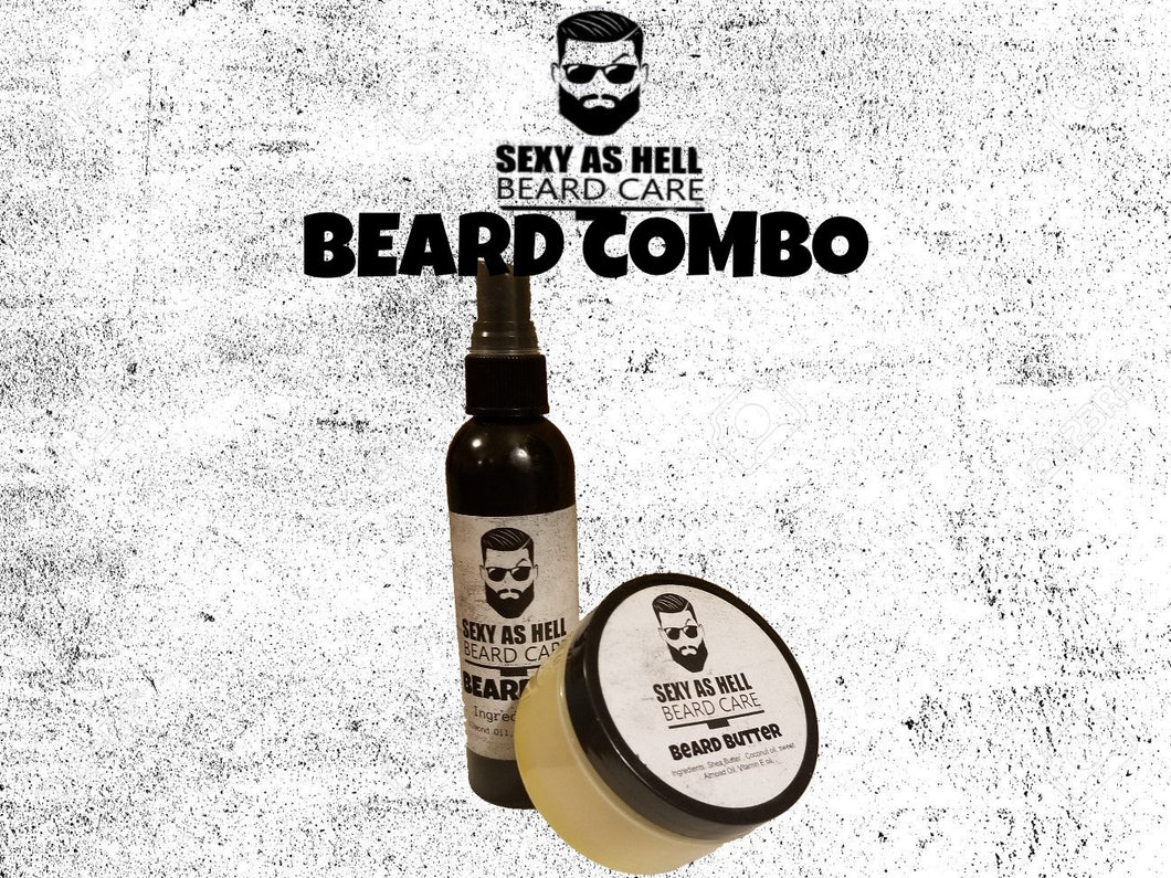SEXY AS HELL BEARD COMBO (BEARD OIL & BEARD BUTTER)