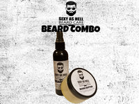 SEXY AS HELL BEARD BUTTER & BEARD OIL COMBO - SEXY AS HELL BEARD CARE