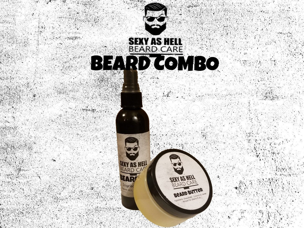 SEXY AS HELL BEARD BUTTER & BEARD OIL COMBO