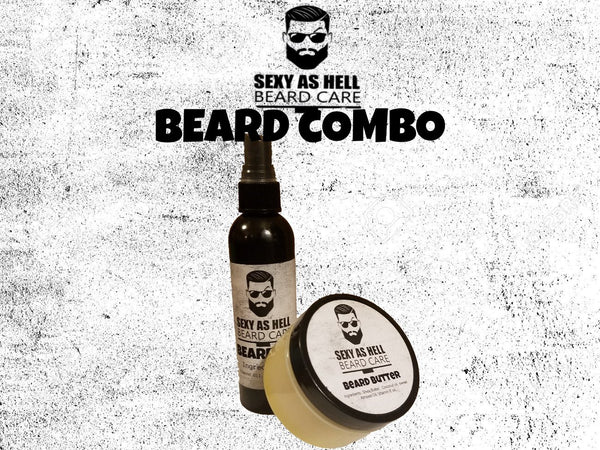 SEXY AS HELL BEARD COMBO (BEARD OIL & BEARD BUTTER) - SEXY AS HELL BEARD CARE