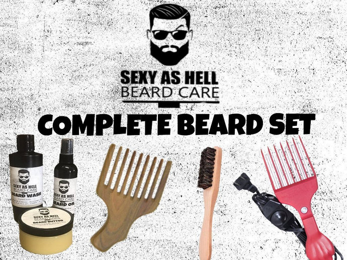 The Sexy As Hell COMPLETE Beard Set $108