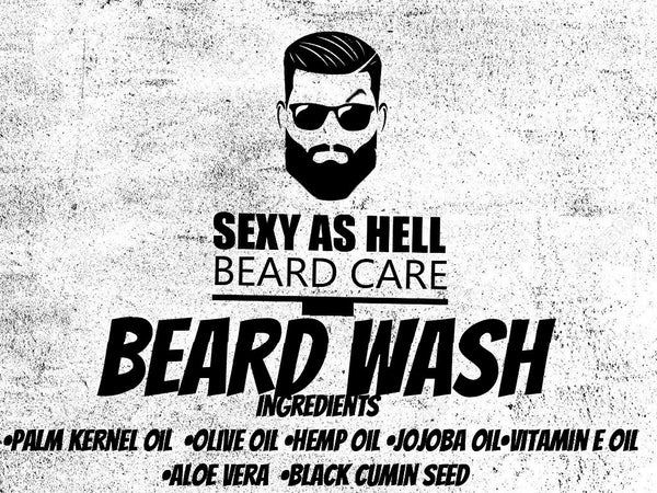 Sexy As Hell Beard Wash 8oz - SEXY AS HELL BEARD CARE