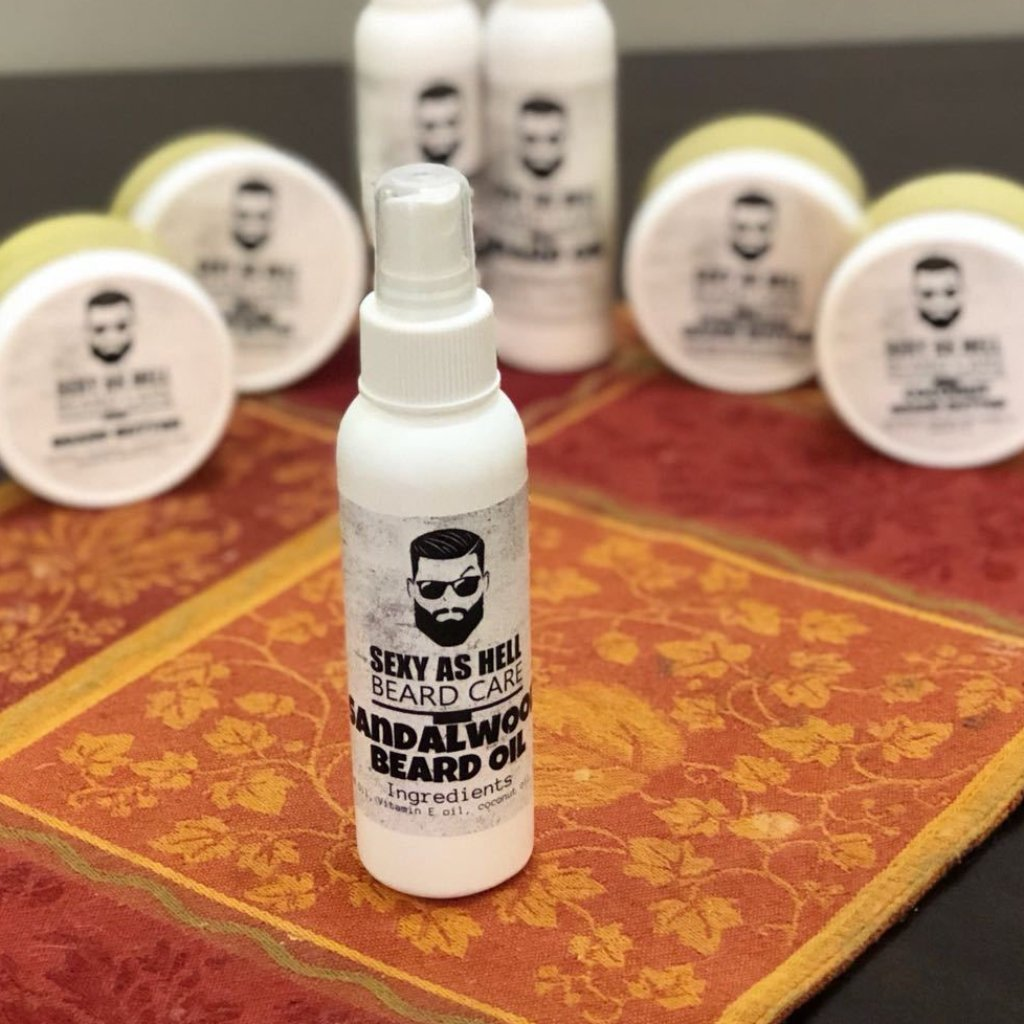 SEXY AS HELL SANDALWOOD BEARD OIL 4 0z