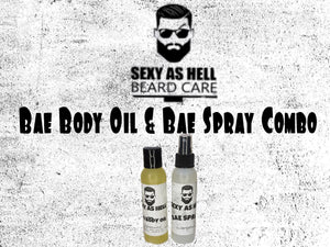 THE SEXY AS HELL BAE BODY OIL & BAE SPRAY COMBO