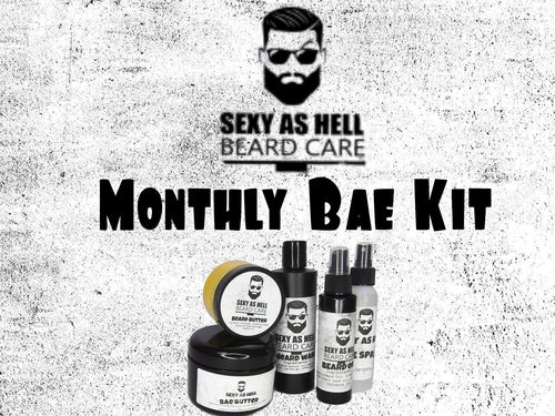 The Sexy As Hell Monthly Bae Kit - SEXY AS HELL BEARD CARE