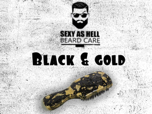 The Sexy As Hell 24K Boar Bristle Beard Brush